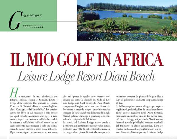 Golf People articolo Lea Pericoli